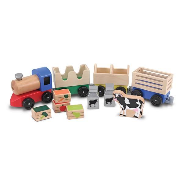 Wooden Farm Train Toy