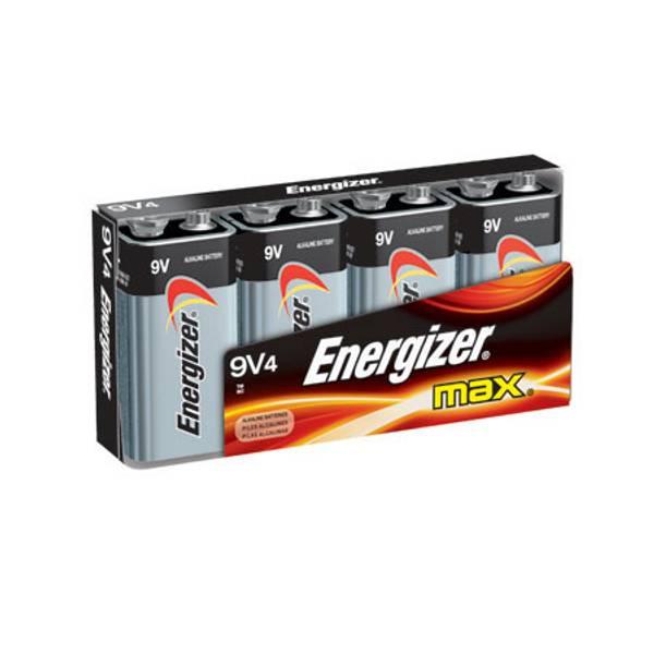 "Max ""9V"" Alkaline Battery 4 Pack"