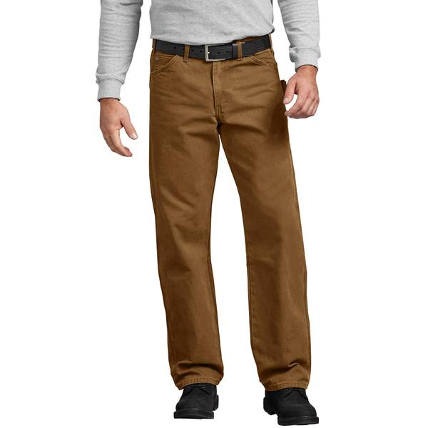 Men's Brown Relaxed Fit Sanded Duck Carpenter Jeans