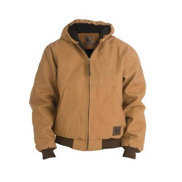 Boys'  Quilt Lined Hooded Duck Jacket