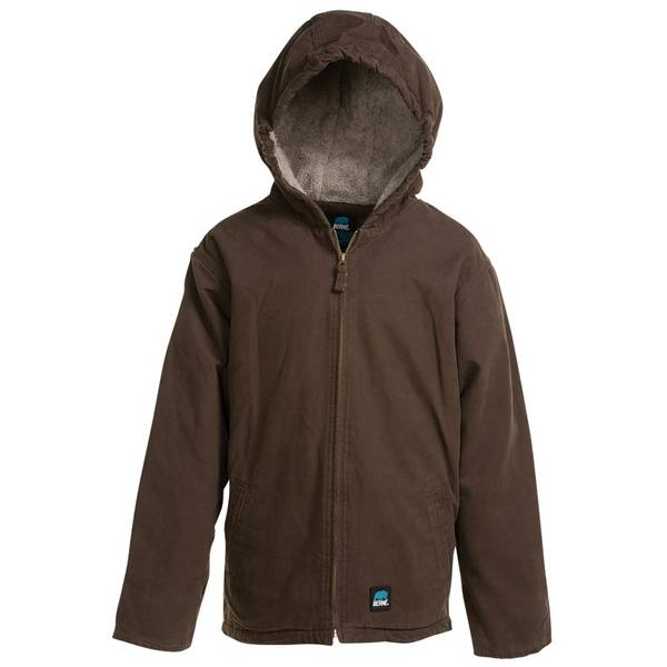 Toddler Boy's Brown Duck Sherpa Lined Hooded Jacket