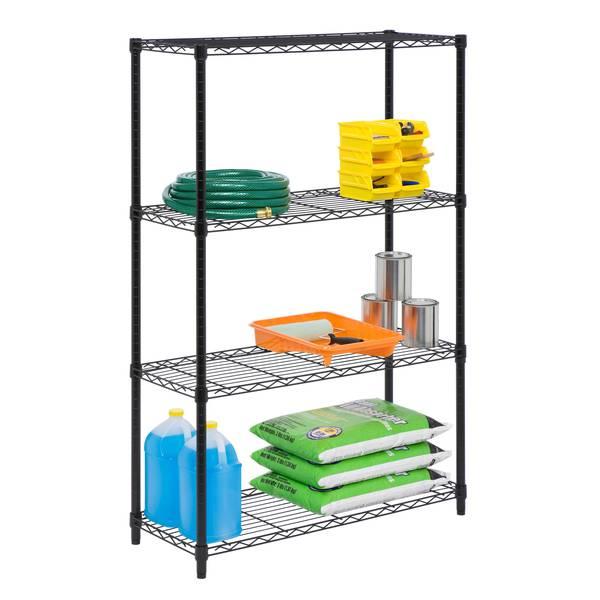 4 -Tier  Adjustable Storage Shelving Unit