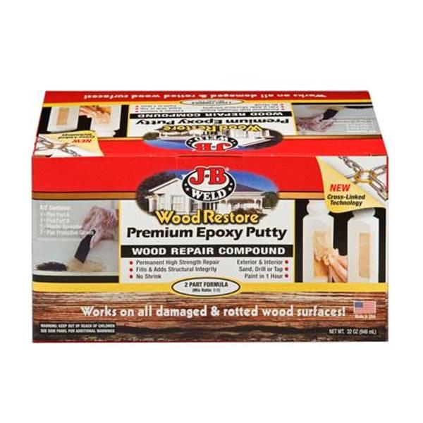 J B Weld Premium Epoxy Putty Kit Wood Repair Compound