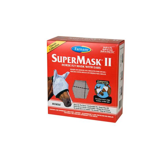 Supermask II Classic Horse Fly Mask With Ears