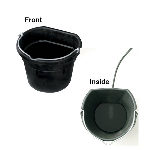 Rubber Heated Flat Back Bucket