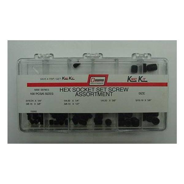 100 Piece Hex Socket Set Screw Kit