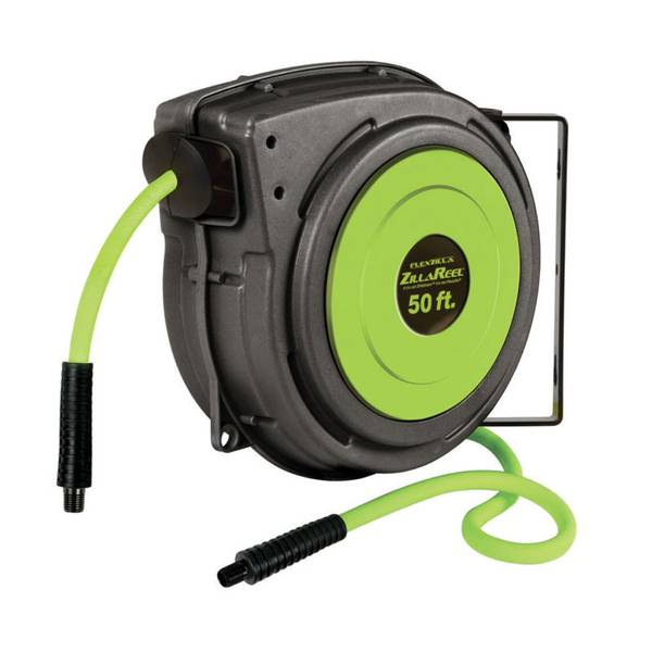 "Flexzilla ZillaReel 3/8"" x 50' Enclosed Retractable Air Hose Reel"