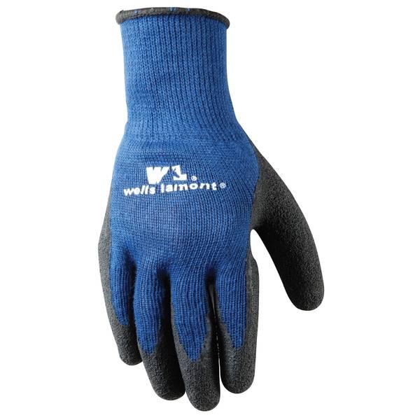 Men's Navy Latex Coated Gloves