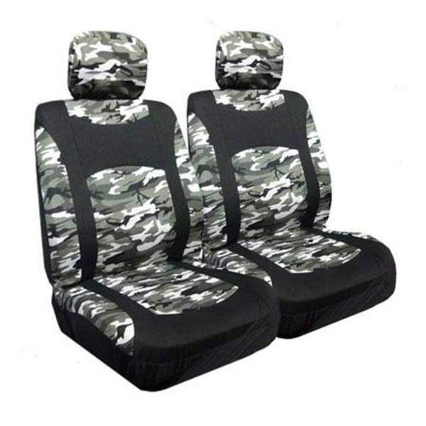 Snow Camo Low Bucket Seat Covers