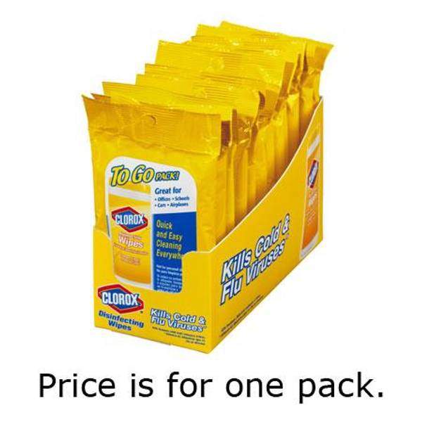 Lemon Disinfecting Wipes To Go Pack