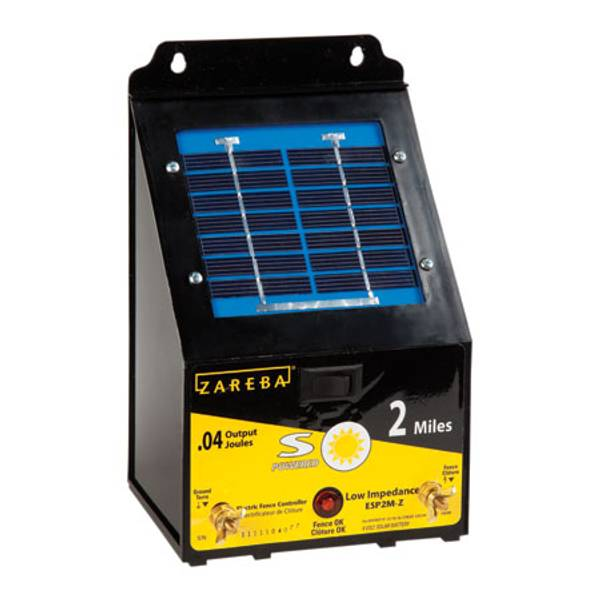 Zareba 2 Mile Solar Electric Fence Energizer