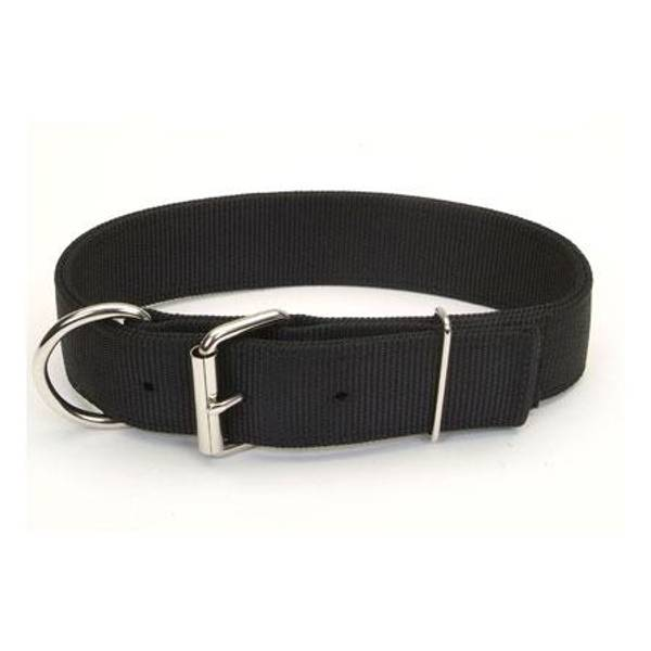 Black Macho Double Ply Dog Collar