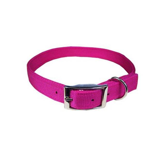 Pink Flamingo Double Ply Nylon Collar