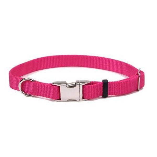 Pink Flamingo Adjustable Metal Buckle Collar