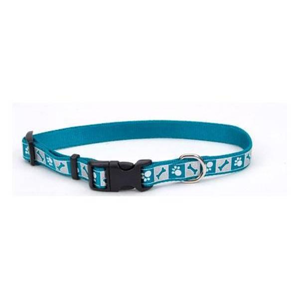 Blue Reflective Design Adjustable Nylon Collar