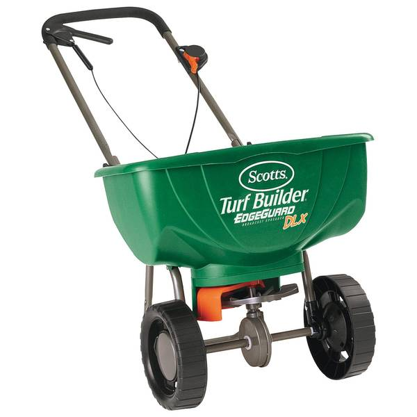 Photo of Turf Builder EdgeGuard DLX Broadcast Spreader