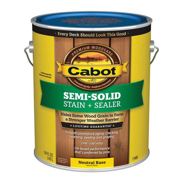 Cabot 1 Gallon Semi Solid Deck & Siding Stain
