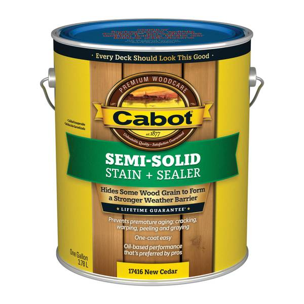 Cabot 1 Gallon Semi Solid Deck Amp Siding Stain