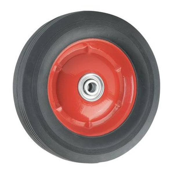 Offset Solid Steel Rubber Wheel