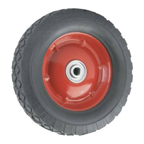Offset Steel Hub Rubber Wheel