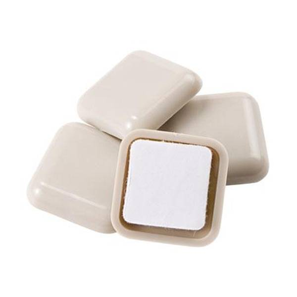 White Square Furniture Sliders