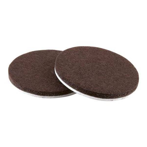 Brown Self Stick Round Felt Pads 6 Pack