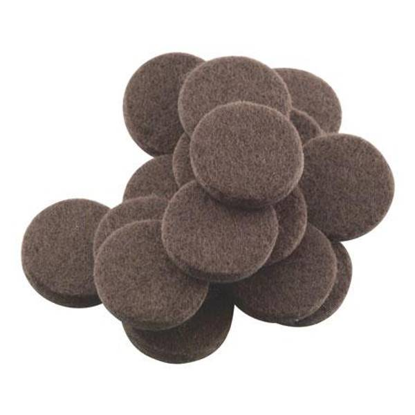 Brown Self Stick Round Felt Pads