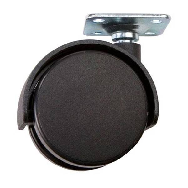Black Plate Twin Caster