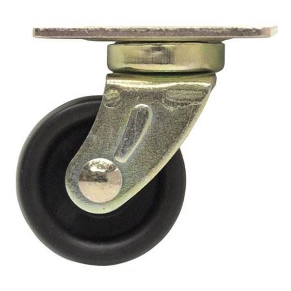 Plate Black Roller Caster
