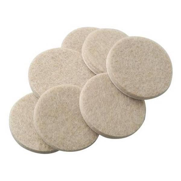 Oatmeal Self Stick Round Felt Pads