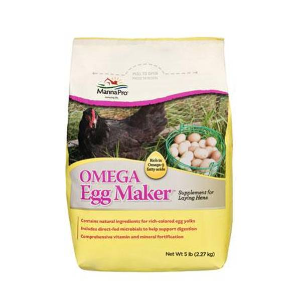 Omega Eggmaker Poultry Supplement
