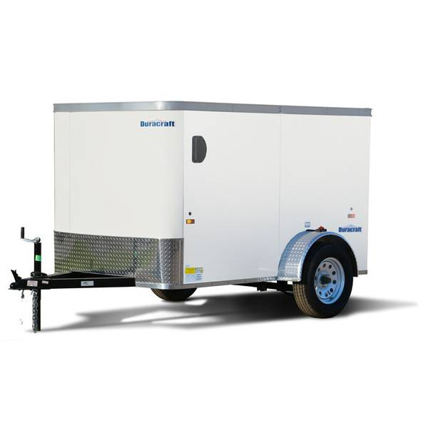 8' White Enclosed Trailer