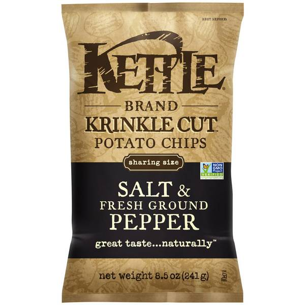 Salt & Fresh Ground Pepper Krinkle Cut Potato Chips