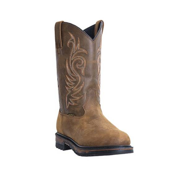 Men's Chocolate  Leather Cowboy Boots