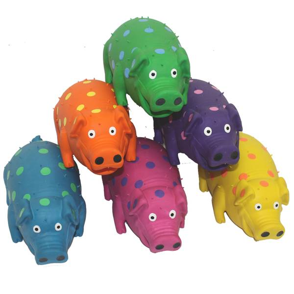Globets Latex Pigs Dog Toys Assortment