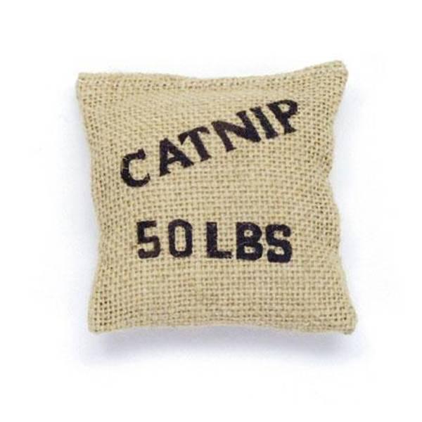 Burlap Bag with Catnip