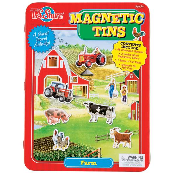 Farm Magnetic Tin Playset