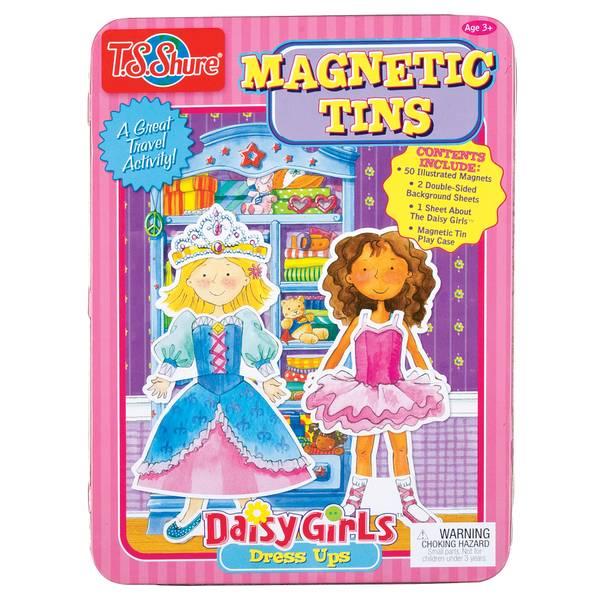 Daisy Girls Dress-Ups Magnetic Tin Play Set