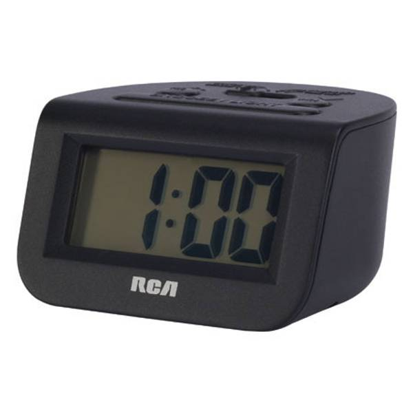 "RCD10 Alarm Clock with 1"" LCD Display"
