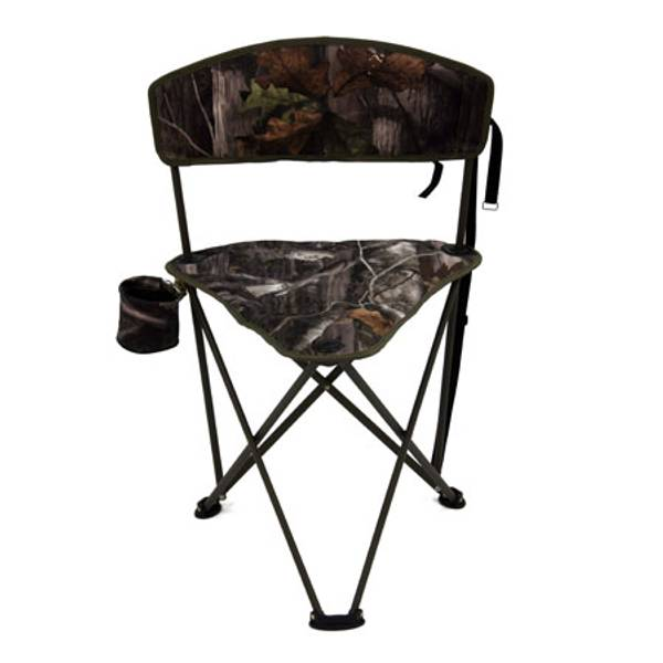 Padded Tripod Chair with Cupholder