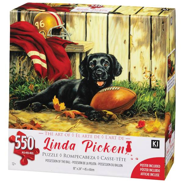 """550-Piece The Art of Linda Pickens """"Lab Family"""" Puzzle Assortment"""
