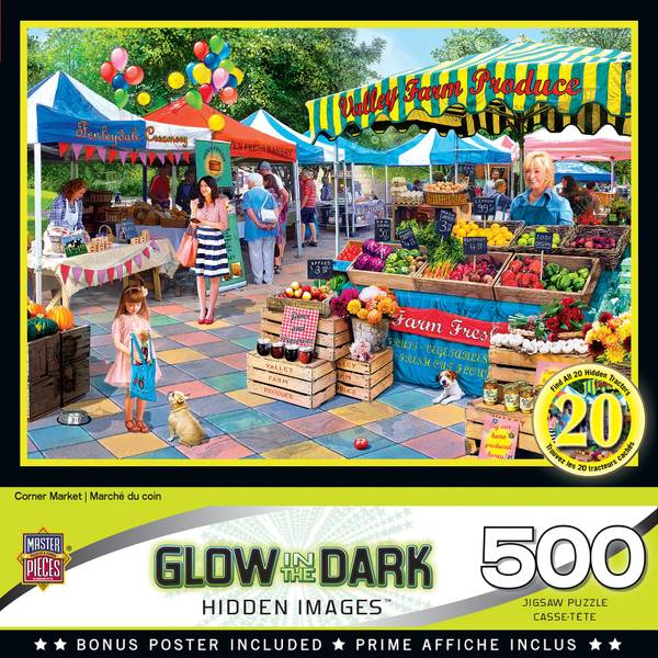 Glow In The Dark Hidden Images Puzzle Assortment