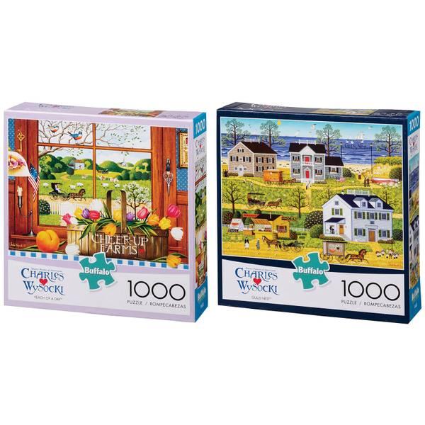 1000-Piece Charles Wysocki Puzzle Assortment