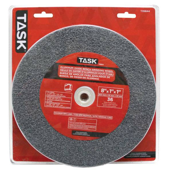 "8"" x 1"" Aluminum Oxide Grinding Wheel with 1"" arbour hole - 36 Grit"