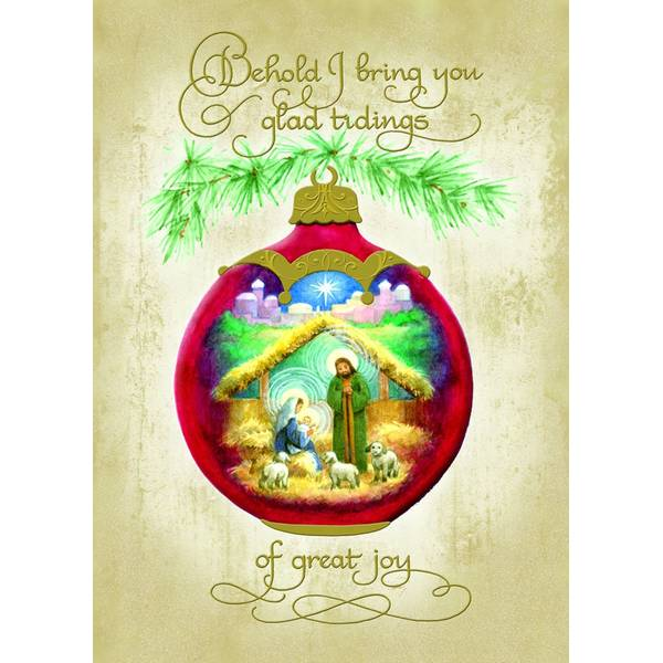 Glad Tidings Foil Christmas Cards