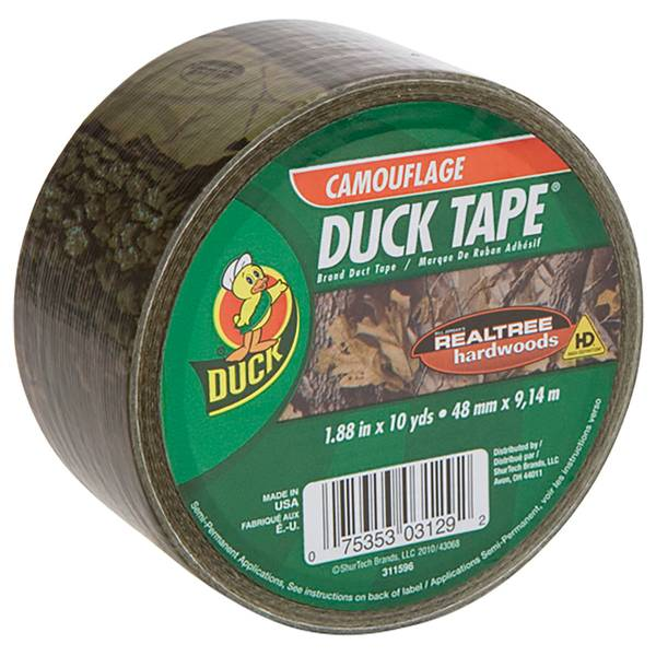 "1.88"" x 10 yd Realtree Camouflage Duct Tape"