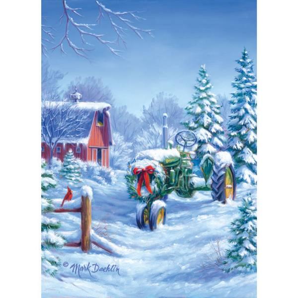 Christmas Tractor Christmas Cards