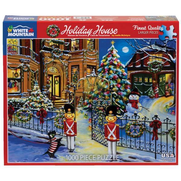 1000-Piece Cozy Christmas Cat Jigsaw Puzzle