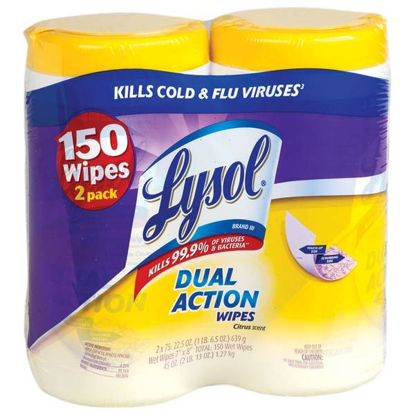 Dual Action Wipes