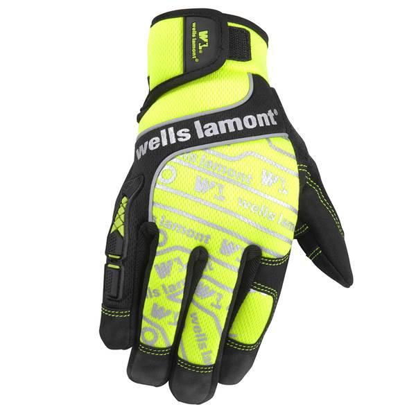 Men's Hi Performance Hi Viz Work Gloves